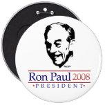 Botón gigantesco del retrato de Ron Paul