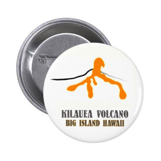 Botón grande del drogadicto de la lava de la isla pin