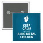 Botón grande del pollo del metal pin