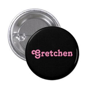 Botón Gretchen Pin Redondo De 1 Pulgada