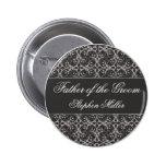 Botón gris del banquete de boda del racimo de la b pin