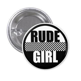 Botón grosero del chica pin redondo de 1 pulgada