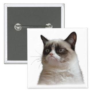 Botón gruñón del resplandor del gato pins