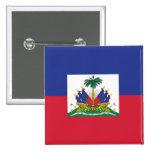 Botón haitiano de la bandera pins