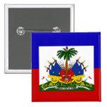 Botón haitiano de Pinback de la bandera