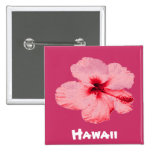 Botón hawaiano de la flor del hibisco pins