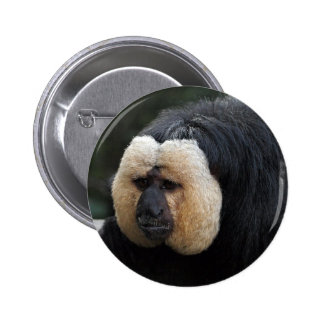 Botón hecho frente blanco del mono de Saki Pin