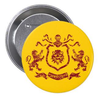 Botón heráldico del escudo del león pin