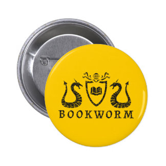 Botón heráldico del ratón de biblioteca pin