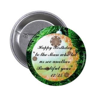 Botón hermoso del año de Jesús del feliz Pin Redondo De 2 Pulgadas
