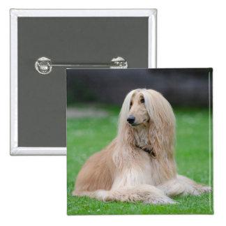 Botón hermoso del cuadrado de la foto del perro de pin cuadrado