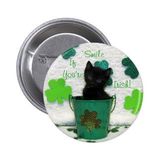 Botón hermoso del día de St Patrick de Jack Pin