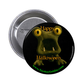 Botón horrible de Halloween del monstruo Pin