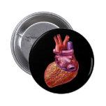 Botón humano del corazón pin