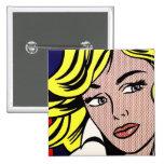 Botón icónico del arte pop pins