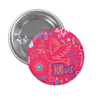Botón icónico del ejemplo del navidad pin redondo de 1 pulgada