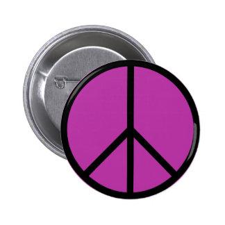 Botón icónico del signo de la paz pin redondo de 2 pulgadas