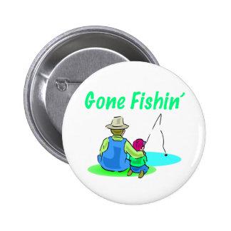 Botón ido de Fishin Pin Redondo De 2 Pulgadas
