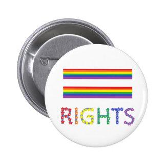 Botón igual del Pin de las derechas de los derecho