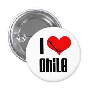 Botón II de Chile del corazón I Pin