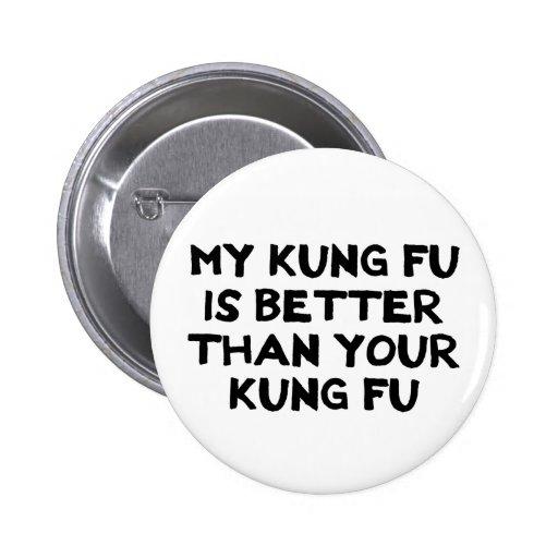 Botón impresionante de Kung Fu Pins