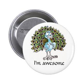 Botón impresionante del pavo real