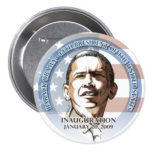 Botón inaugural, Barack Obama, el 20 de enero de 2 Pins