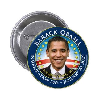 Botón inaugural de Barack Obama Pin Redondo De 2 Pulgadas