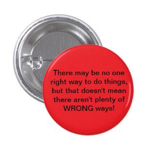Botón incorrecto de las maneras pin