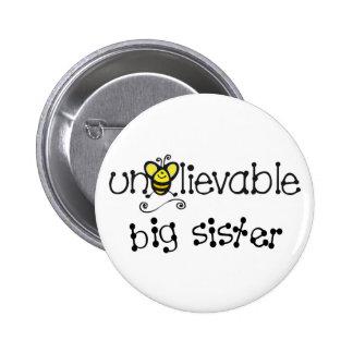 Botón increíble de la hermana grande pins