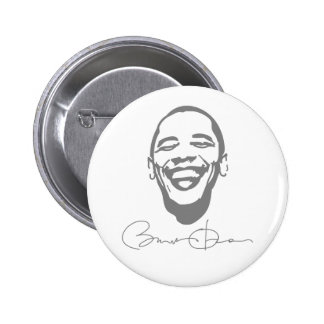 Botón infeccioso de la firma de la sonrisa de Obam Pin Redondo De 2 Pulgadas