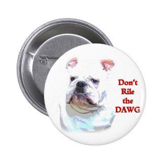 Botón inglés blanco del dogo pin