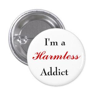 Botón inofensivo del adicto