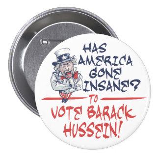 Botón insano de Hussein Pin Redondo De 3 Pulgadas