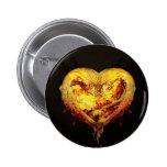 Botón/insignia de las ilustraciones del corazón pin redondo de 2 pulgadas