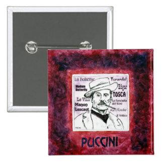 Botón/insignia de Puccini Pin Cuadrado