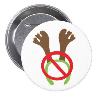 botón/insignia - tema divertido del navidad pin redondo de 3 pulgadas