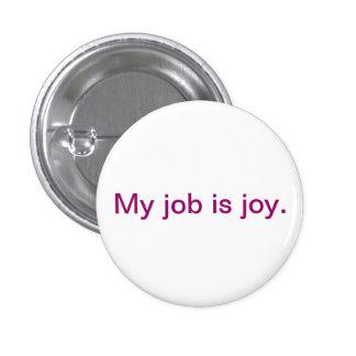 Botón inspirado - alegría pin