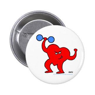 Botón inspirado del ejercicio de la salud del cora pin redondo de 2 pulgadas
