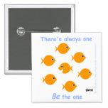 Botón inspirado lindo del Goldfish Pins