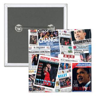 Botón internacional de los títulos de Obama