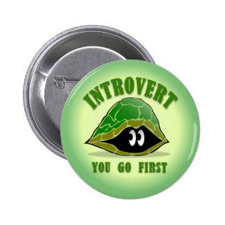 Botón introvertido pin redondo de 2 pulgadas