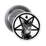 Botón invertido gatito enojado de la cruz y del Pe