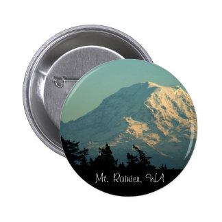 Botón: Invierno el Monte Rainier Pin Redondo De 2 Pulgadas