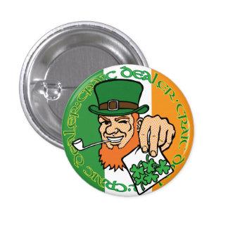 Botón irlandés de la bandera del distribuidor auto pins