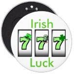 Botón irlandés de la suerte 777 pins