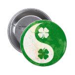 Botón irlandés de Yin Yang del trébol Pin