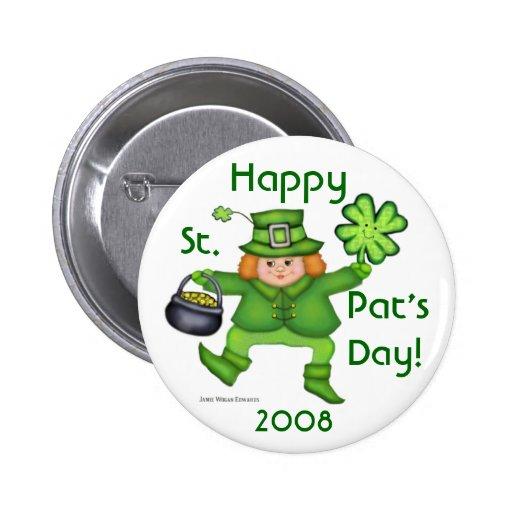 Botón irlandés del Leprechaun del día de St Patric