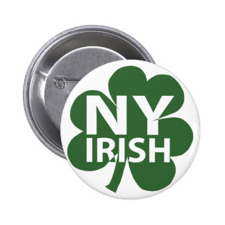 Botón irlandés del neoyorquino pin redondo de 2 pulgadas