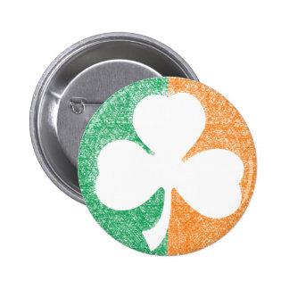 Botón irlandés del personalizado del trébol pin redondo de 2 pulgadas